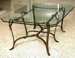 wrought iron glass coffee table base and s oval black