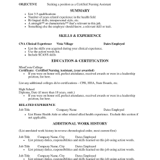 Free Cna Resume Templates Stunning Cna Resume Sample Pdf Samples With Experience Nursing Assistant