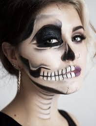 tutorial edgy half face skull nouvelle daily
