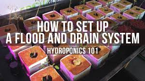 how to set up a basic flood and drain ebb flow table for hydroponics you