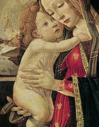 madonna painting the virgin and child by sandro botticelli