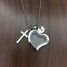 pet loss necklace glass heart locket