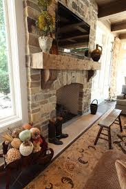 Mantel On Stone Fireplace Sophisticated Casual Home In Cleveland Oh By W Design