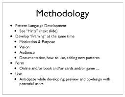 Pattern Language Unique Pattern Languages An Approach To Holistic Knowledge Representation