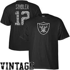 Reebok Throwback Jersey Size Chart Reebok Oakland Raiders Ken Stabler Throwback Distressed Pro Style T Shirt