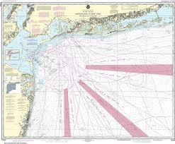 New York Harbor Nautical Chart Noaa Nautical Chart 12326 Approaches To New York Fire Lsland Light To Sea Girt