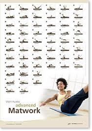 Aero Pilates Exercise Wall Chart Stott Pilates Wall Chart