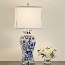 tall vase lighting garden. Vase Lighting. Square Blue And White Floral Table Lamp Blue_white Lighting P Tall Garden