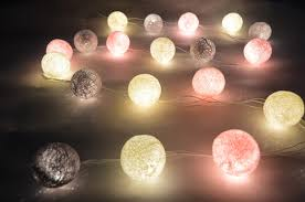 ball fairy lights. new cream pink gray cotton ball string lights fairy party home patio wedding romantic decor c 002#-in holiday lighting from \u0026 on