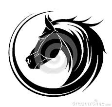 tribal horse head silhouette. Plain Silhouette In Tribal Horse Head Silhouette U