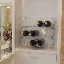 Finether Free Standing 3 Tier Wine Towel Storage Rack Holds 12