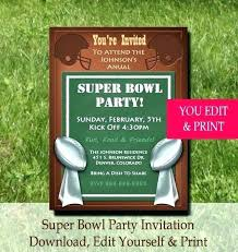 Super Bowl Invitation Ideas Party Word Template Lovely Invite Birthday