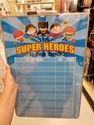 Super Heroes Chore Dry Erase Board 17 99 All Spring Shop
