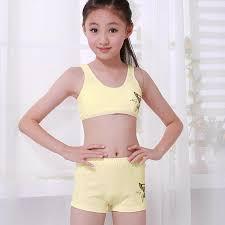 Ting beautiful princess girl bra girls underwear cotton underwea