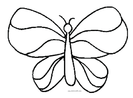 Butterfly Coloring Pages Free Simple Butterfly Coloring Pages Simple ...