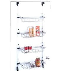 pantry door storage rack over the door storage rack with baskets pantry door e rack over