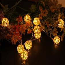 40 led thai rattan tree chandeliers string lights decorated colored lamp warm white