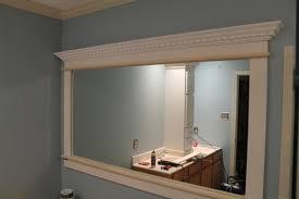 large custom framed wall mirror