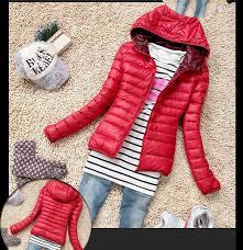 las fashion casual padded puffy coat