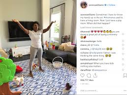 Living Room Shows Enchanting Serena Williams Shows Off Her Living Room Transformation Of Been A Mom