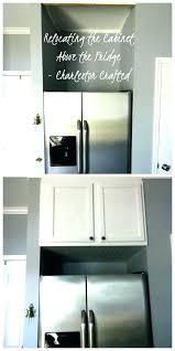 ikea refrigerator cabinet above fridge cabinet above fridge cabinet relocating the cabinet above the fridge crafted