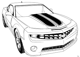 Transformer Bumblebee Car Coloring Pages Cartoon Transformers