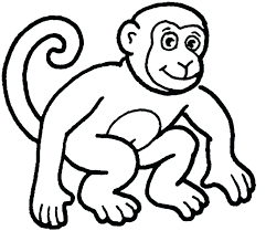 Monkey Coloring Pages To Print Monkey Coloring Pages Printable