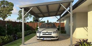 single bay skillion roof carport