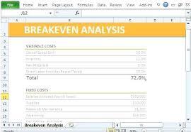 Break Even Point Excel Breakeven Analysis Template Break Even Point Excel Download