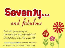 Quotes 70th Birthday
