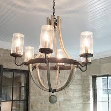 wine barrel chandelier with crystals
