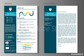Modern Resume Infographics Resume And Cover Letter Collection Modern Cv Set With