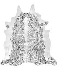grey persian cowhide rug grey cowhide rug20