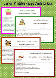 recipe cards for kids. Wonderful Cards Printable Recipe Cards For Kids Designed Easy Recipes Customize With  An Image Intended Recipe Cards For Kids C
