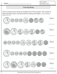 Printable Worksheets Free Math Counting Coins S – kenkowoman.info