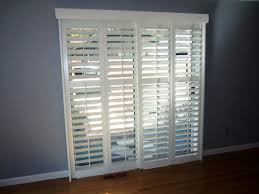 image of sliding glass patio doors with built in blinds