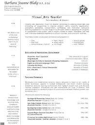 Resume Sample For Teaching Job Resume Format For Teaching Sample
