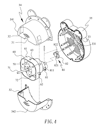 Patent us8128346 fan with concealed 360 degree oscillating fan mechanism