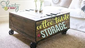 Diy Coffee Table Diy Coffee Table With Storage Shanty2chic Youtube