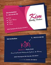 Beauty Parlour Visiting Card Template Business Card Template