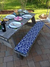 Picnic Table Bench Cushions Dining Table