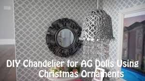 diy chandeliers for american girl dolls