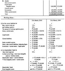 Ratios In Balance Sheet Accounting Problems On Accounting Ratios
