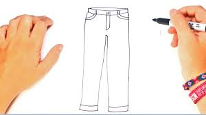 How To Draw Pants How To Draw A Trousers Or Pants Step By Step Easy Drawings