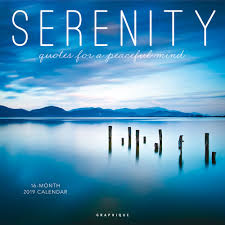 Serenity 2019 Calendar Quotes For A Peaceful Mind Amazonin