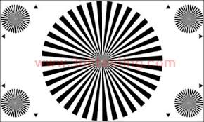 Lens Focus Test Chart 36 Sectors 3nh