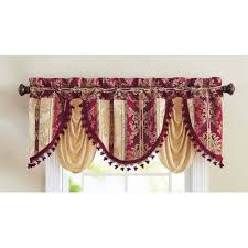 better homes and gardens valances.  Gardens Better Homes And Gardens Formal Swag Single Window Treatments Valance  Polyester Rod Pocket Top Burgundy For And Valances
