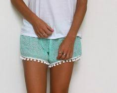 Cute Comfortable Casual <b>Fashion</b>-Print Pom Pom Beach Shorts <b>S</b> ...