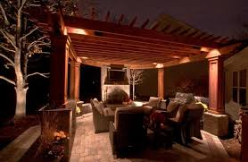 embellish outdoor with pergola lighting