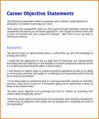 Example Of Career Aspiration Career Aspirations Statement Example